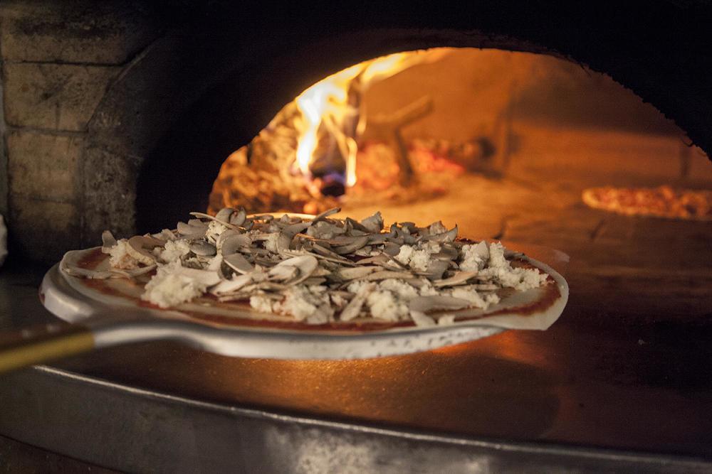 pizza rustica con verdure funghi